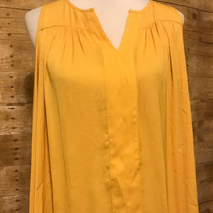 Lane Bryant Yellow sleeveless dress shirt  size 14